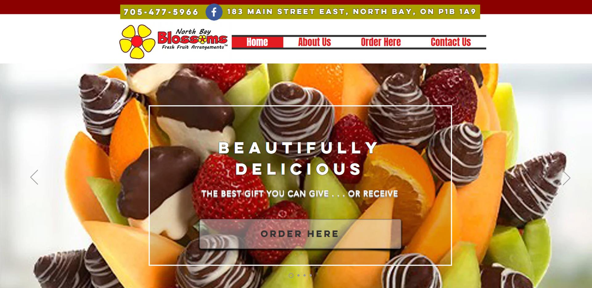 home page for North Bay Fruit Blossoms